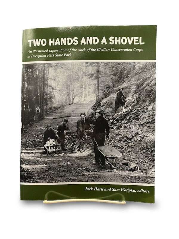 Two hands and a shovel - Deception Pass Park.