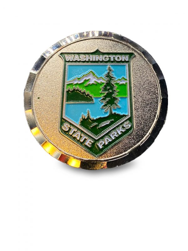Deception Pass Park coin for sale - Washington State Parks logo on back.