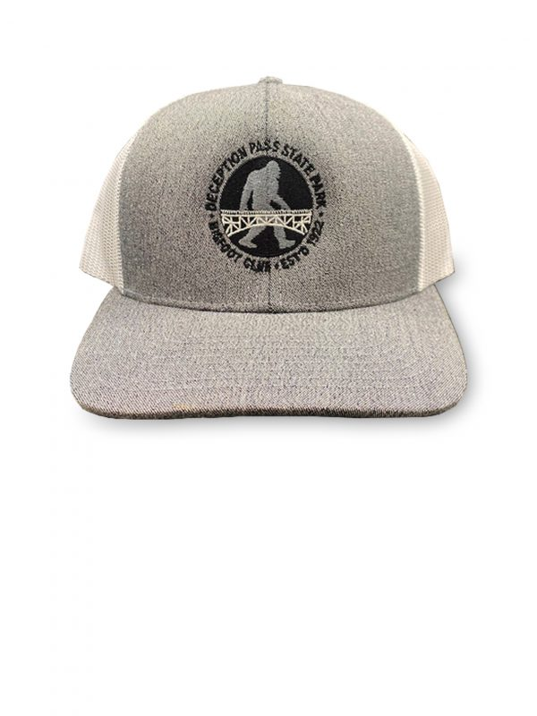 Trucker's hat - Deception Pass Park big foot club.