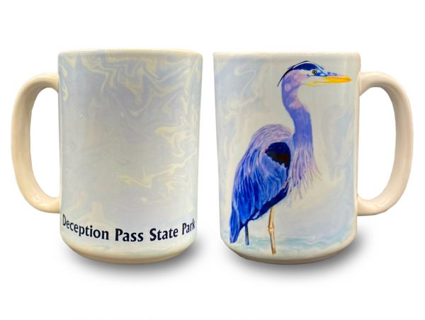 Blue Herron Mug - Deception Pass Park Foundation.