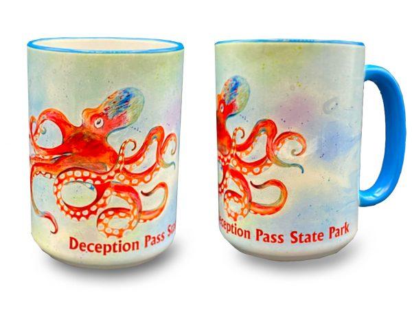 Leo the Octopus mug - Deception Pass Park Foundation.